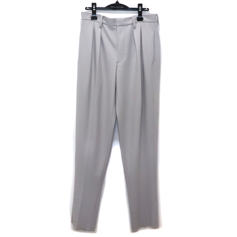 CINOH / CI WOOL JERSEY TAPERED TWO TUCK PANTS